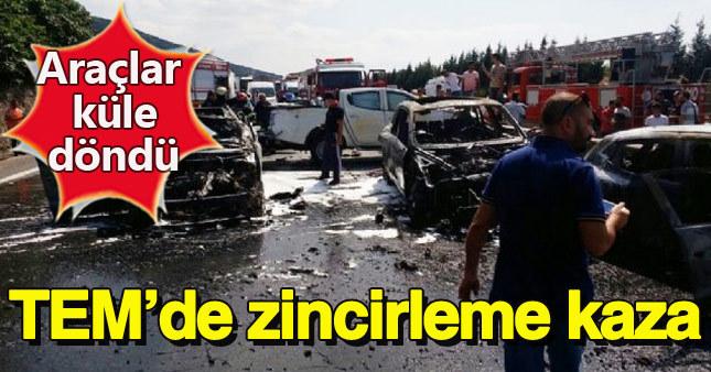 TEM'de zincirleme kaza: 7 kişi yaralı