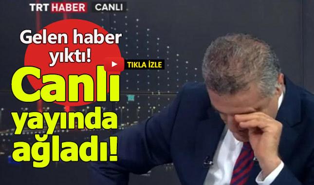 TRT Haber yayınında Murat Kozluklu gözyaşlarını boğuldu