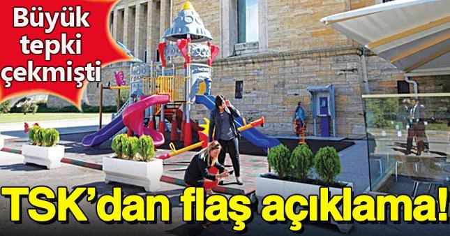 TSK Anıtkabir'deki oyun parkı için kararını verdi