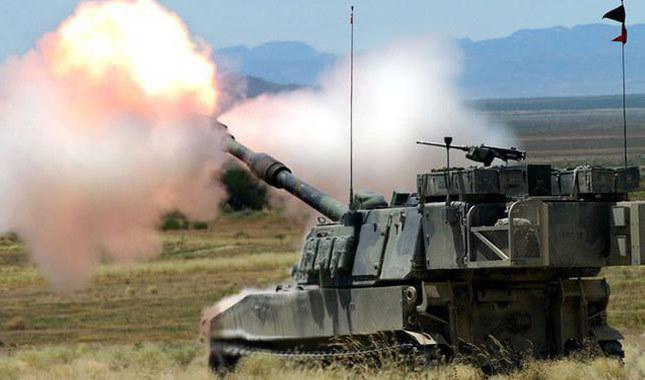 TSK, Azez'deki YPG hedeflerini vuruyor