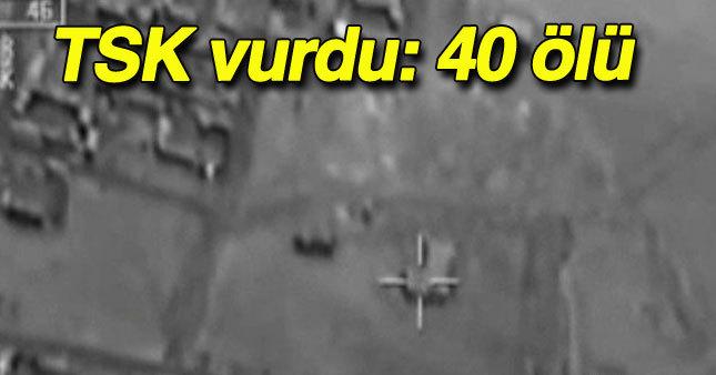 TSK Koalisyon Güçleri ile birlikte IŞİD'i vurdu