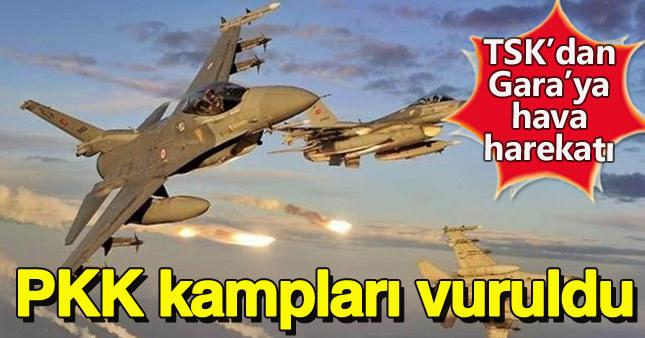 TSK jetlerinden Kuzey Irak'a hava operasyonu