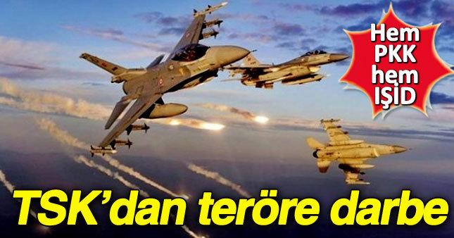 TSK'dan PKK ve IŞİD'e hava harekatı