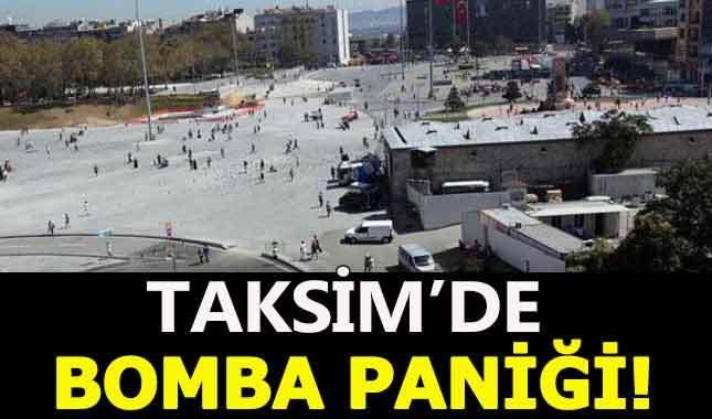 Taksim meydanında bomba paniği yaşandı