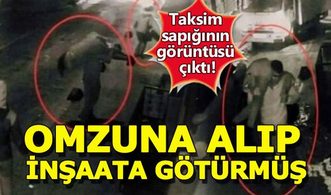 Taksim sapığının zorbalığı ortaya çıktı! Kadını omzuna alıp inşaata götürmüş