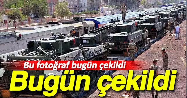 Tanklar Gaziantep'e ulaştı