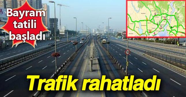 Tatilcilerin gitmesiyle İstanbul trafiği rahatladı