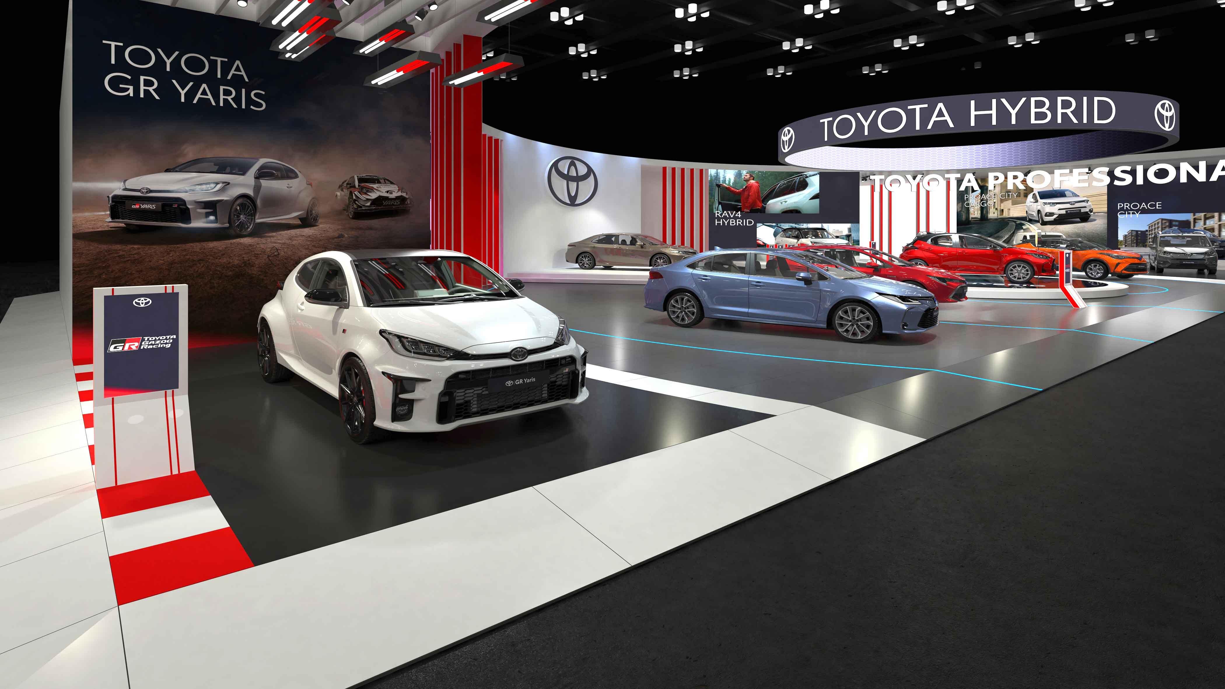 Toyota, 6 hibrit modeliyle Autoshow 2021 Mobility Fuarı'nda