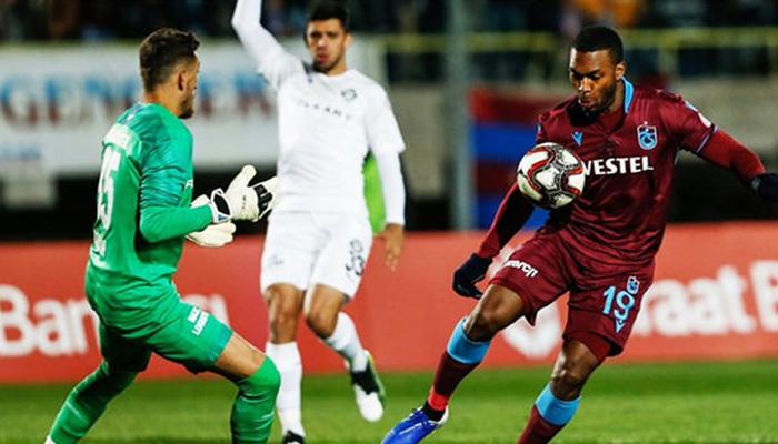 Trabzonspor golcüleriyle avantajı kaptı