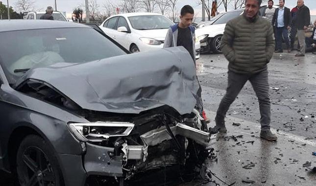 Trabzonsporlu futbolcu kaza geçirdi