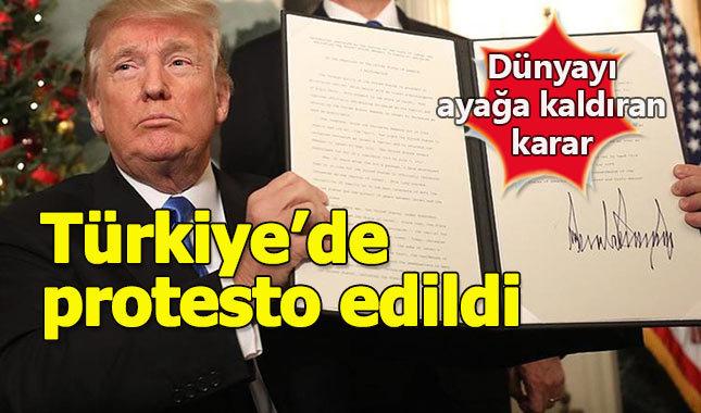 Trump'ın Kudüs hamlesi Türkiye'yi ayağa kaldırdı