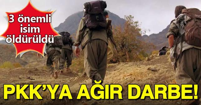Tunceli'de PKK'nın üst düzey 3 sorumlusu öldürüldü