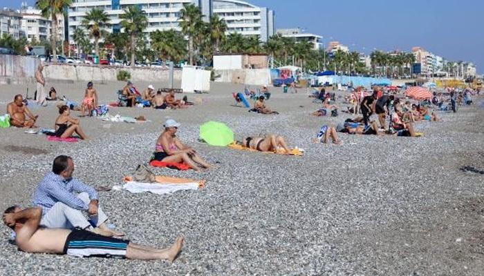 Turistler değil Türkler plajları doldurdu