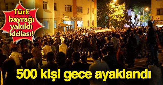 Türk bayrağı yakıldı iddiası Kütahya'yı karıştırdı