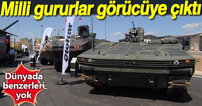 Türk savunma sanayisi tarafından üretilen mühimmat ve araçlar göz doldurdu.