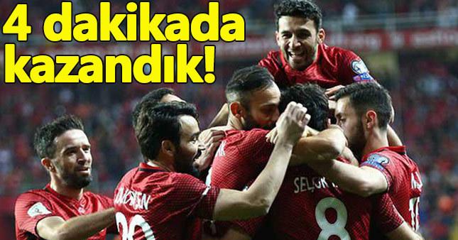Türkiye 2 - 0 Finlandiya maç özeti golleri dünya kupası elemeleri puan durumu