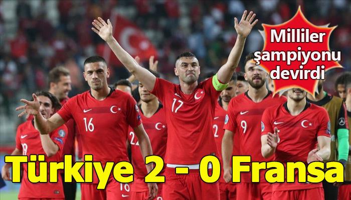 Türkiye, 2020 Avrupa şampiyonası elemelerinde Fransa'yı mağlup etti