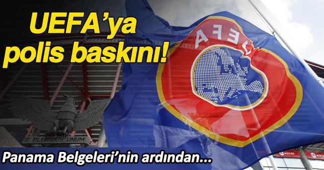 UEFA'ya polis baskını