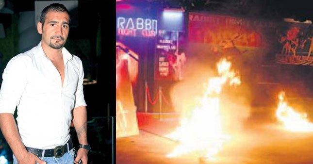 Ümit Karan'ın mekanını yaktılar