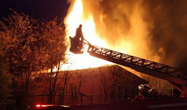 Üniversite binasında korkutan yangın