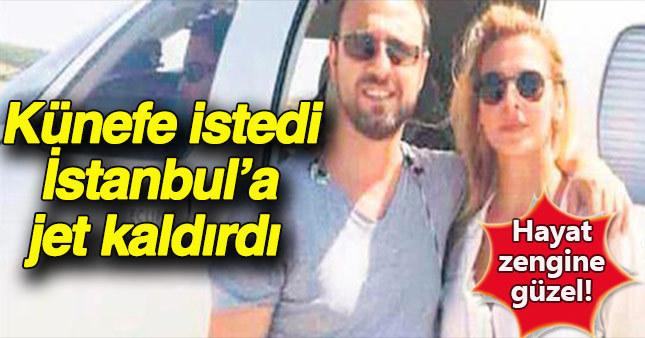 Ünlü işadamı Ekim Apltekin yemekten sonra canı künefe çekince özel jetini İstanbul'a gönderdi