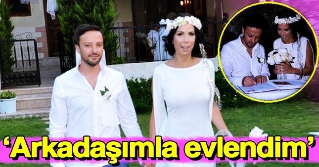 Ünlü şarkıcı Tuğba Özerk evlendi