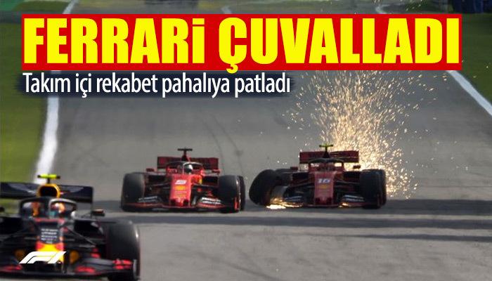 Vettel ile Leclerc'in çekişmesi Ferrari'yi yaktı