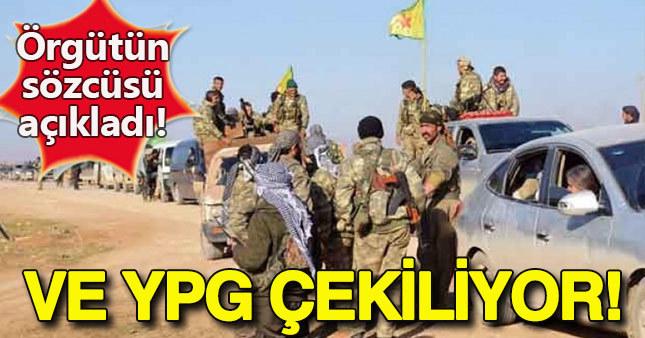 YPG: Fırat'ın batısına çekiliyoruz