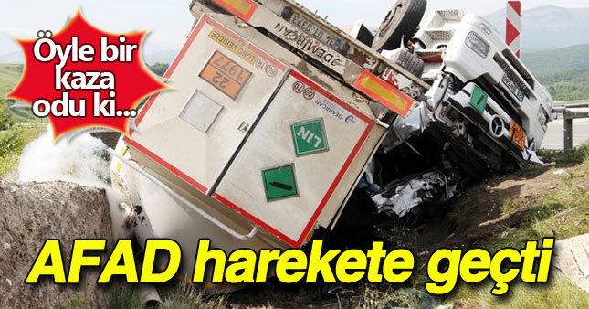 Yalova'da AFAD'ı harekete geçiren kaza