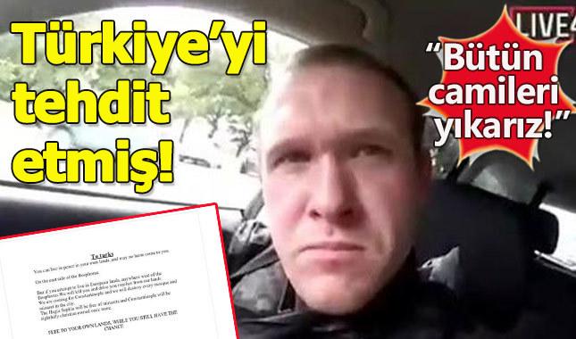 Yeni Zelanda'da saldırganı Türkleri de tehdit etmiş!