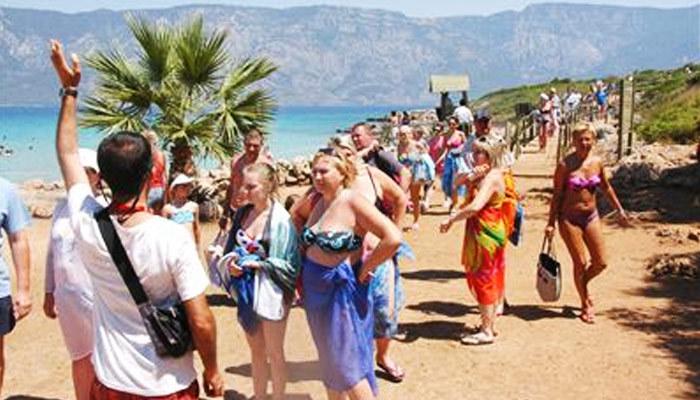 Yerli turistin yerini yabancılar doldurdu