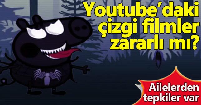 YouTube'da rahatsız edici çizgi filmler hangileri