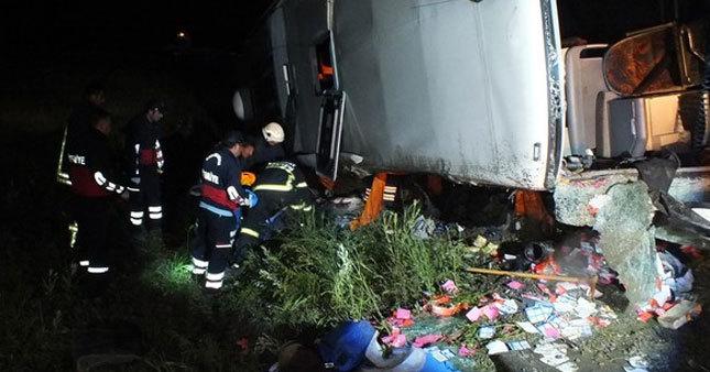Yozgat'ta otobüs kazası: 3 ölü