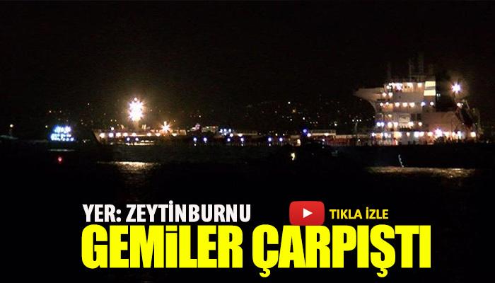 Zeytinburnu açıklarında gemi kazası