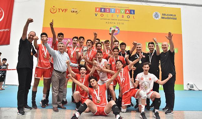 Ziraat Bankası Voleybol Kulübü Küçük Takımı namağlup Türkiye Şampiyonu