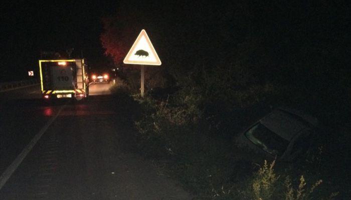 Karabük'te otomobil ile tır çarpıştı: 2 yaralı