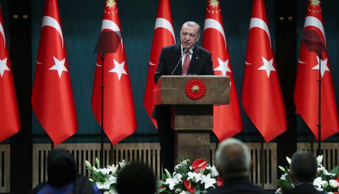 """Erdoğan: """"Dayatmayla karşımıza çıkanlara cevabımızı uluslararası hukuktan kaynaklanan meşru gücümüzle vermekten asla çekinmiyoruz, çekinmeyeceğiz."""""""