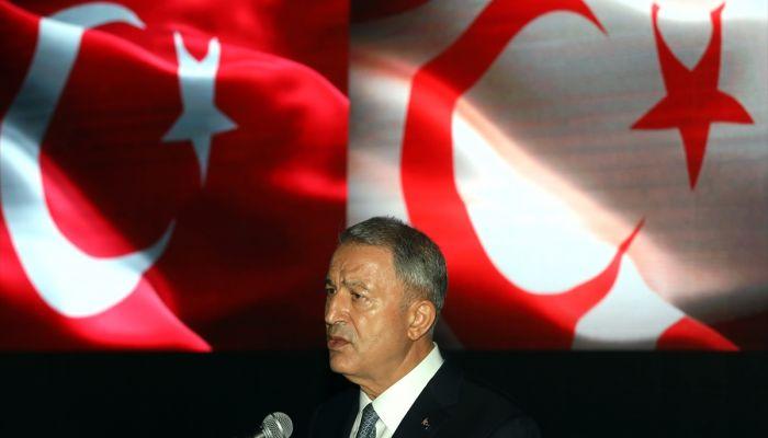 """Akar: """"KKTC'nin ruhsat sahalarında, Türkiye'nin deniz yetki alanlarında inceleme yapmak, onlardan istifade etmek için çalışmak bizim hakkımızdır."""""""