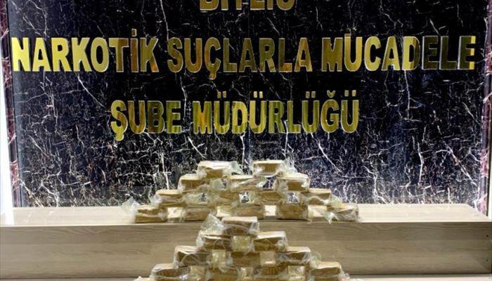 Bitlis'te 24,2 kilogram eroin ele geçirildi
