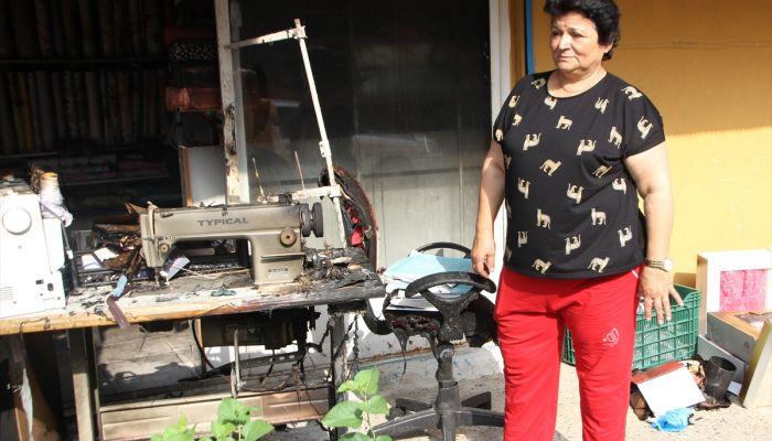 Antalya'da kundaklandığı iddia edilen iş yeri hasar gördü