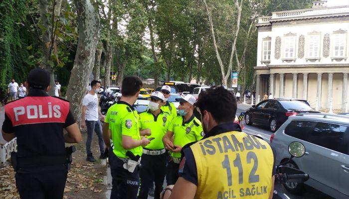 Beşiktaş'ta motosiklet kazası: 4 yaralı