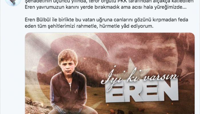 Cumhurbaşkanı Erdoğan'dan Eren Bülbül paylaşımı:
