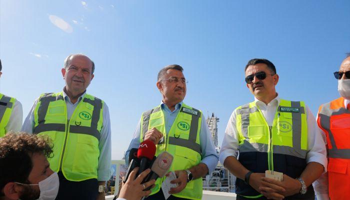 Cumhurbaşkanı Yardımcısı Oktay, 25 Eylül'den itibaren onarılan boru hatları aracılığıyla Anadolu'dan KKTC'ye yeniden su verileceğini açıkladı.