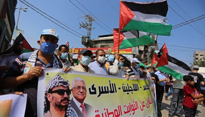 Gazze ve Batı Şeria'da Bahreyn ve BAE'nin İsrail'le normalleşmesi protesto edildi