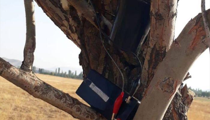 Elazığ'da bıldırcın sesi çıkaran cihazla avlanan 2 kişi yakalandı