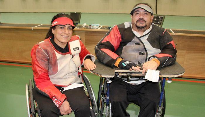 Engelli sporcu çift, Tokyo Paralimpik Oyunları'na birlikte hazırlanıyor