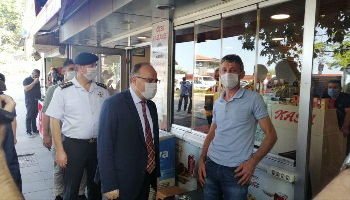 Zonguldak Valisi Tutulmaz'dan Kovid-19 denetimi