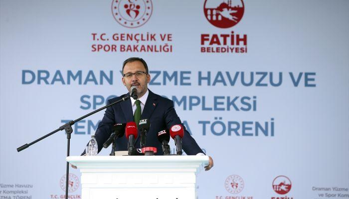 Bakan Kasapoğlu, İstanbul'da temel atma törenine katıldı