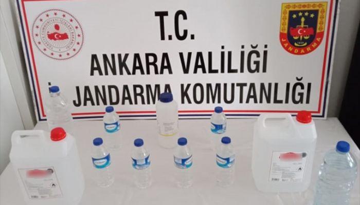 Ankara'da sahte içki üretip satan şüpheli gözaltına alındı