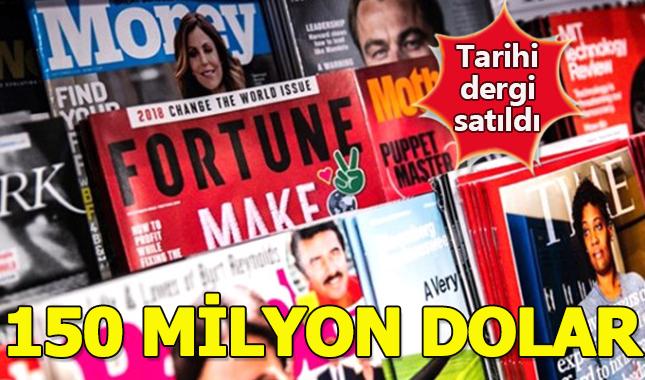 İş dünyasının dergisi Fortune 150 milyon dolara satıldı